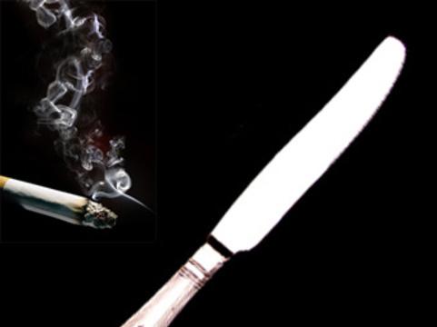 Американец попытался удалить себе грыжу [столовым ножом и сигаретой]
