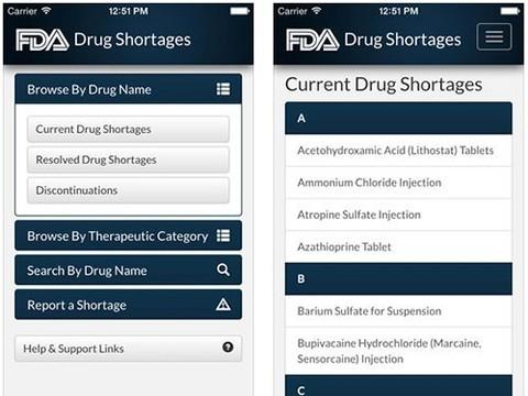 В США запущено мобильное приложение для врачей, информирующее о дефиците лекарств