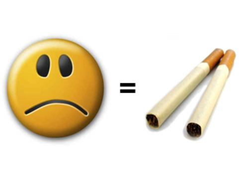 Депрессия и сигареты [одинаково укорачивают жизнь]