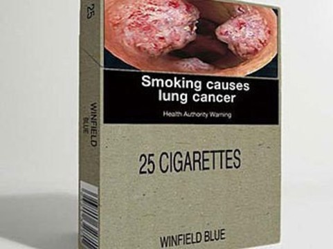 [Юных курильщиков не пугают] предупреждающие изображения на пачках