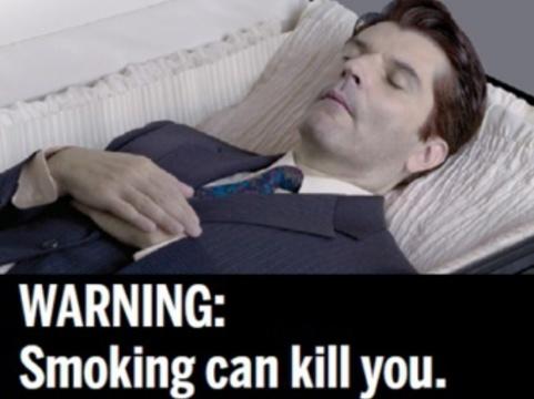 Пугающие картинки появятся на сигаретных пачках [в июле 2012 года]