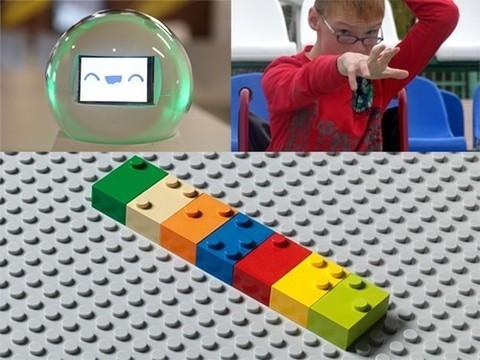 Робот для аутистов, конструктор для незрячих и однокнопочная клавиатура