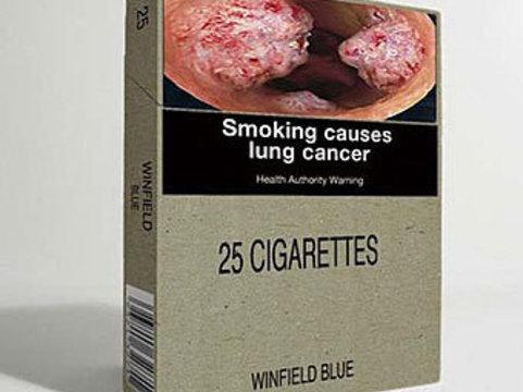 Австралийский сенат [одобрил отмену брендовых сигаретных пачек]