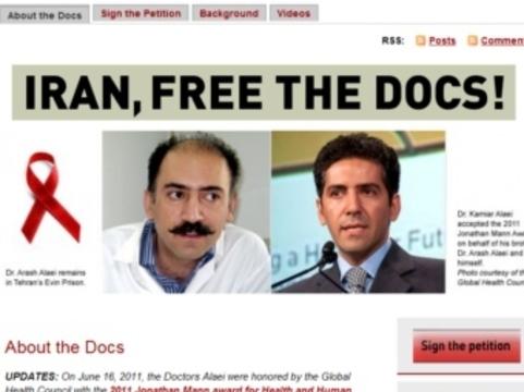Иранского борца со СПИДом [выпустили из тюрьмы]