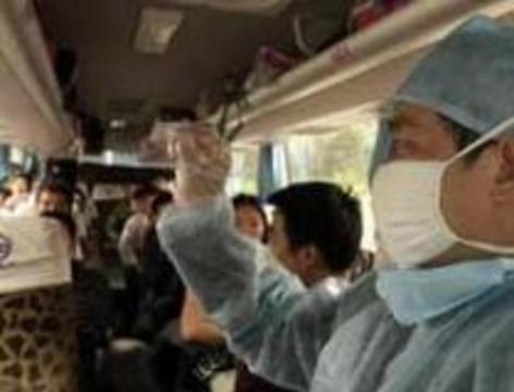 В Китае больницы с атипичной пневмонией берут в оцепление